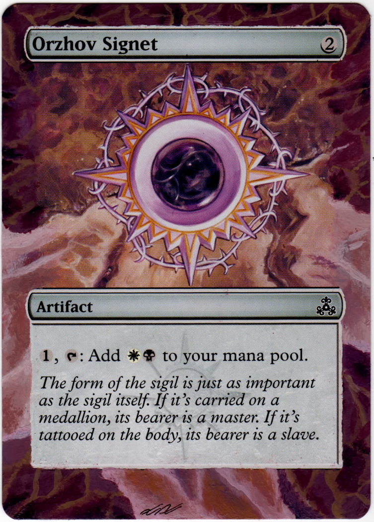 Orzhov Signet M Tg Alter By Altik0 On Deviantart The range on kaya is quite high, but overall i don't think she's fantastic. orzhov signet m tg alter by altik0 on