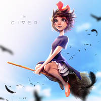 Kiki's Delivery Service Fanart by ItsCiver