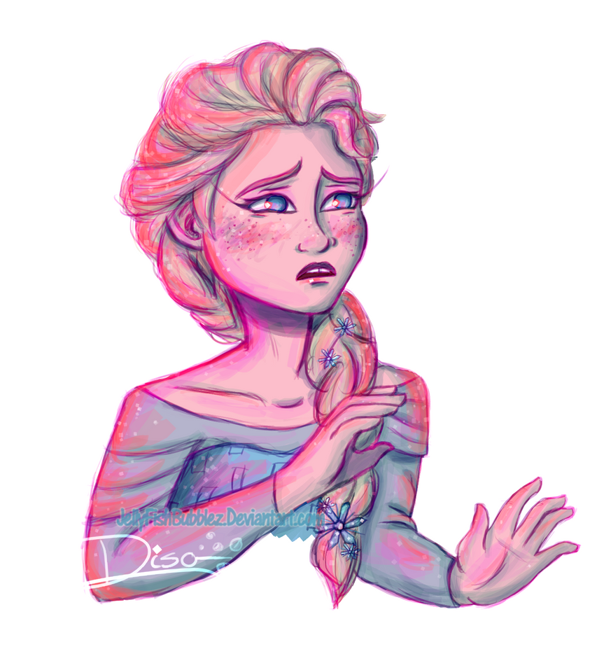 Elsa Colour Experiment by Jellyfishbubblez
