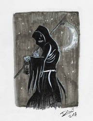 Inktober: Grim reaper by Jellyfishbubblez