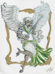 Inktober: Harpy by Jellyfishbubblez