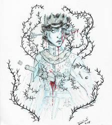 Inktober: Ghost prince by Jellyfishbubblez