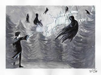 Inktober: Patronus by Jellyfishbubblez