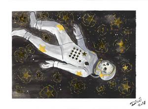 Inktober: Astronaut