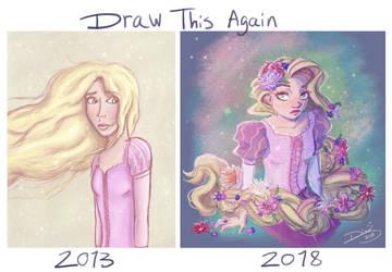 Draw This Again: Rapunzel by Jellyfishbubblez