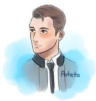 Watercolor: Connor by potatokyukun