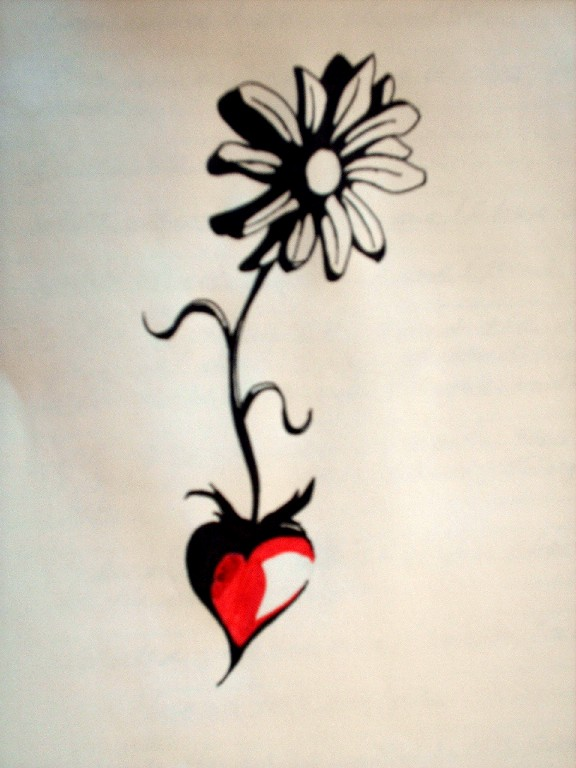 Heart Daisy Tattoo: 1000+ Images About Ink