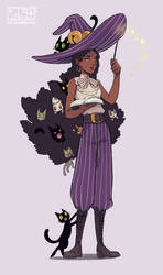 Cat hoarder witch by M-GO