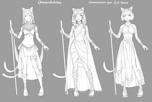 Kitty Pharaoh design by M-GO