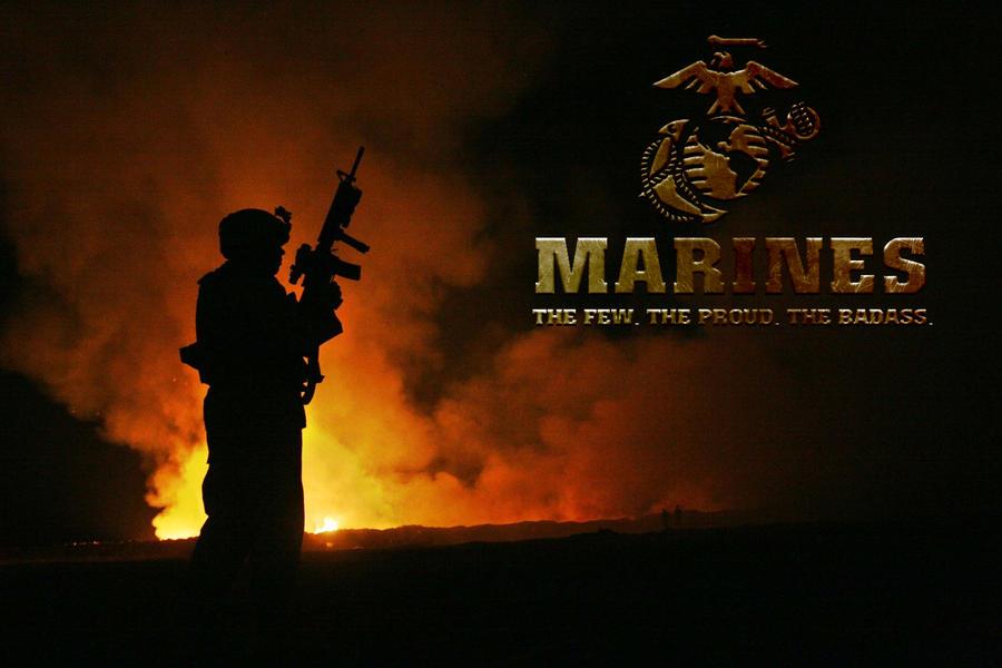 The badass marines by cotrackguy on deviantart - Badass screensavers ...