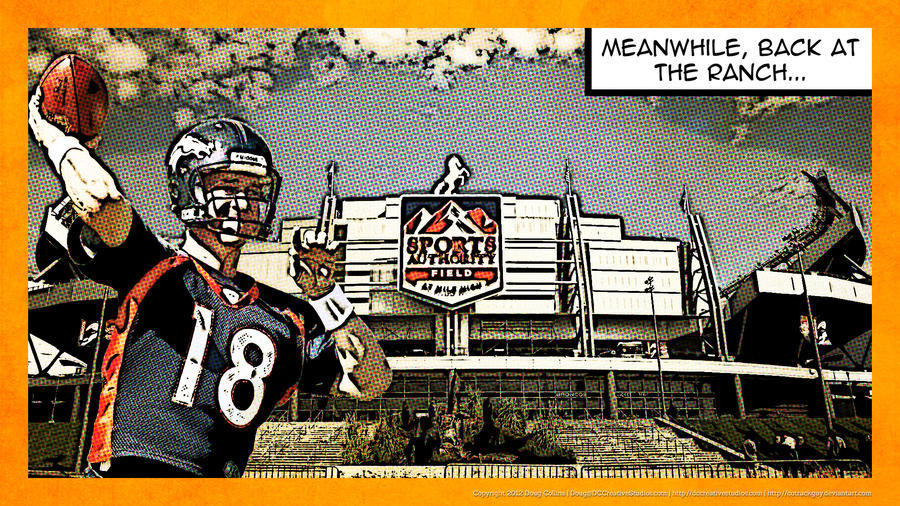 Peyton Manning Comic Background (HD Wallpaper) by cotrackguy