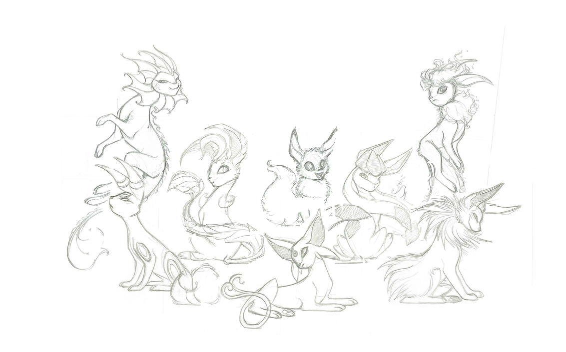 Eevolutions Sketch by francis-john