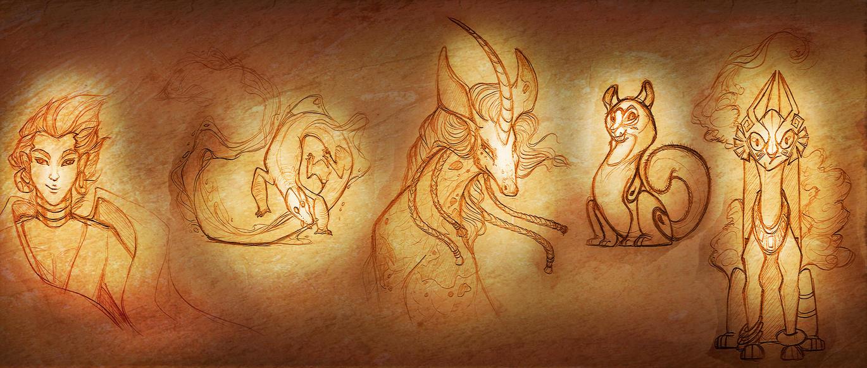 Several Sketches 1.0 by francis-john