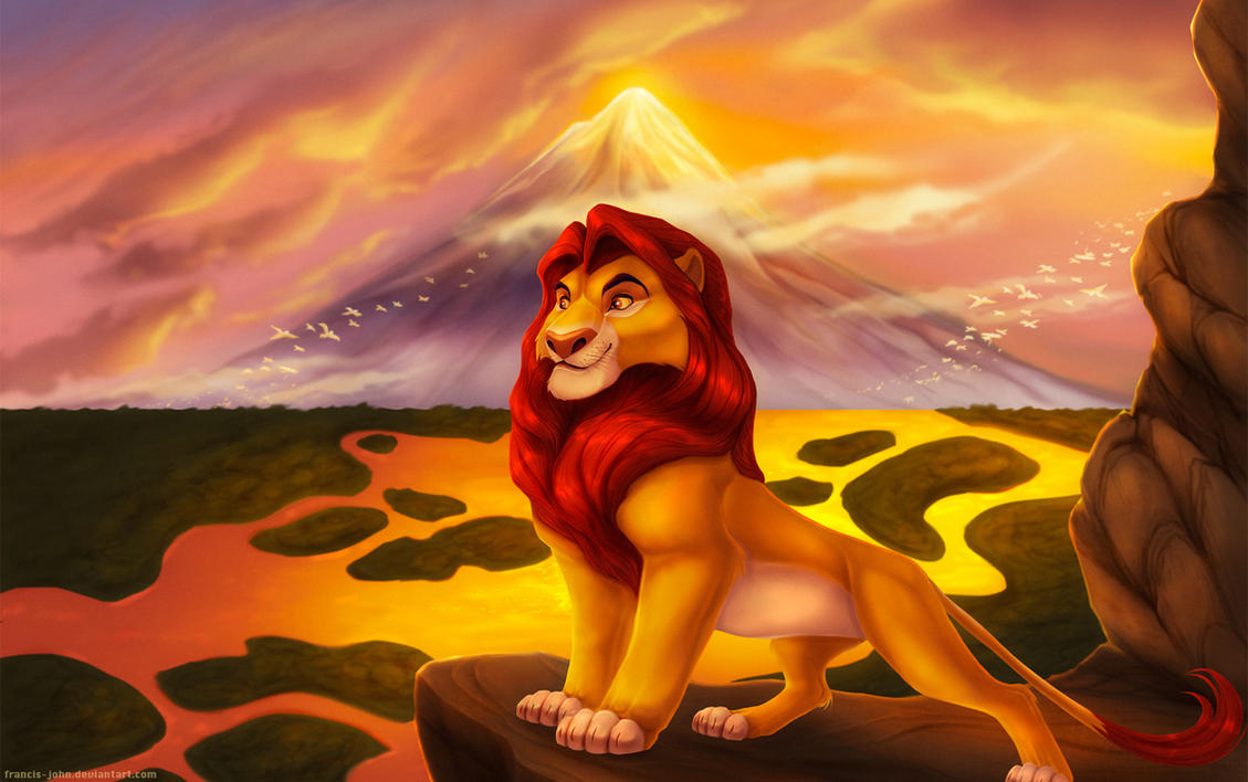 King mufasa by francis john
