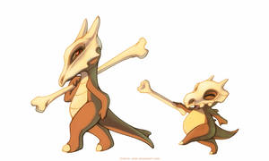 Cubone and Marowak by francis-john