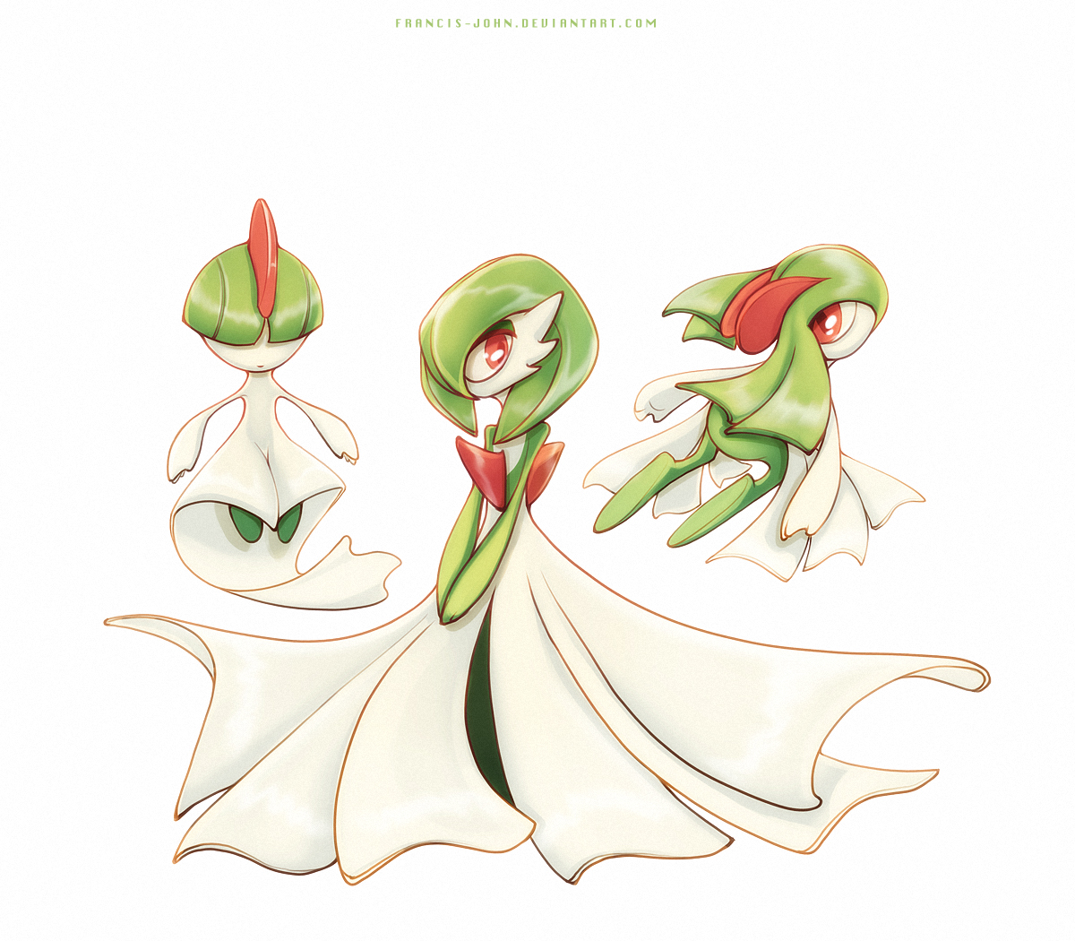 Ralts Gardevoir And Kirlia By Francis John On Deviantart