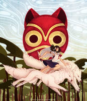 Princess Mononoke by francis-john