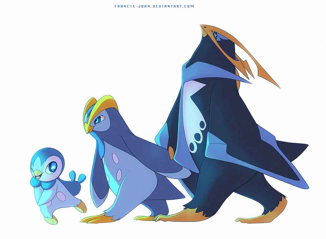piplup prinplup and empoleon by francis john on deviantart