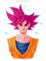 Super Saiyan God Goku by francis-john