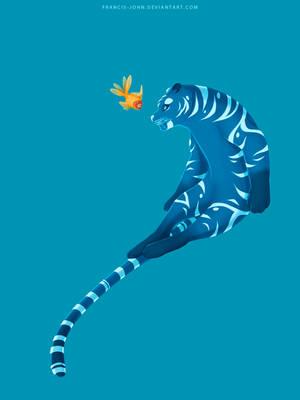 Tiger and Fish by francis-john