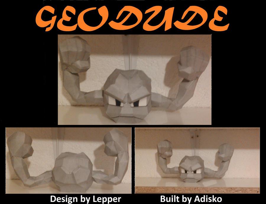 DeviantArt: More Like Geodude Papercraft by Adisko