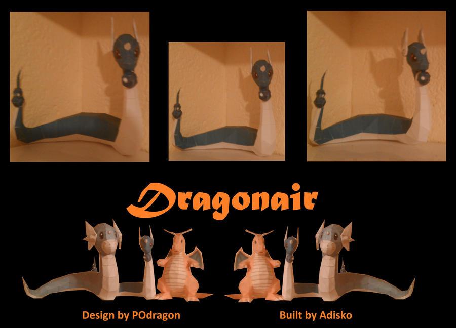 Dragonair PaperPokemon by Adisko