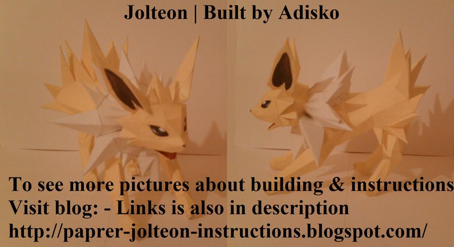 Jolteon Paper Pokemon by Adisko