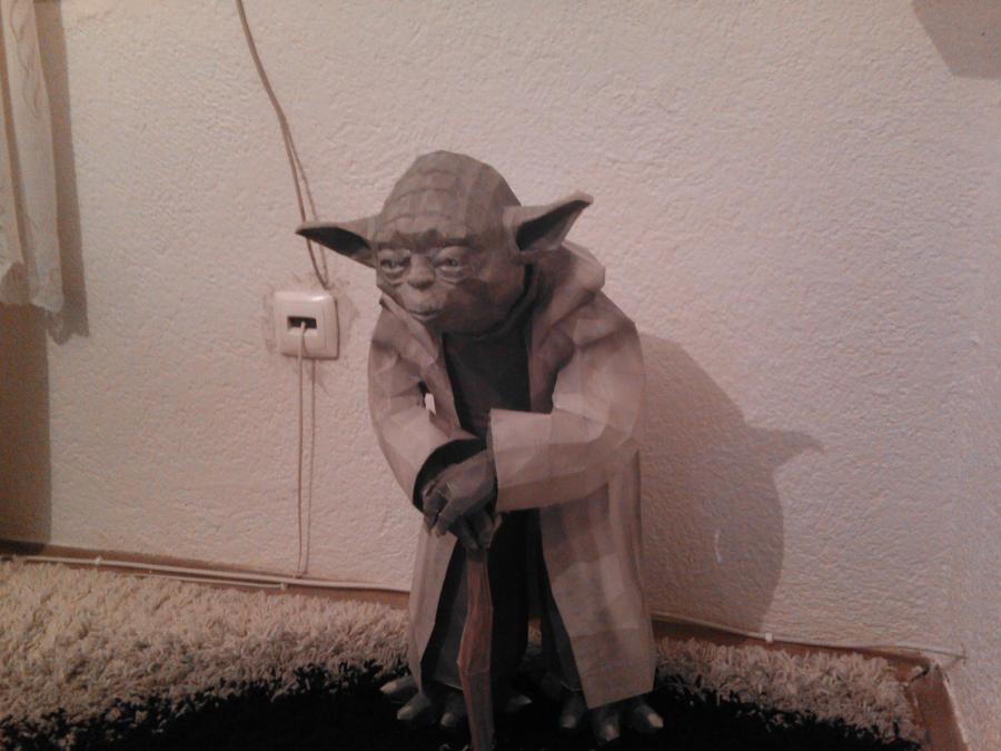 Yoda Papercraft Life size by Adisko