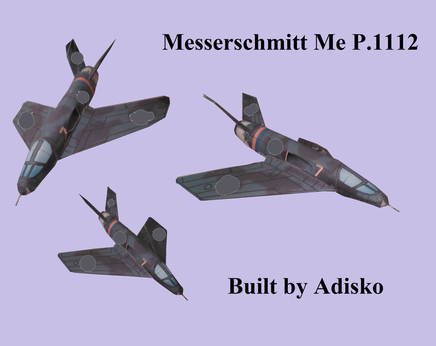 Messerschmitt Me P.1112 Papercraft by Adisko