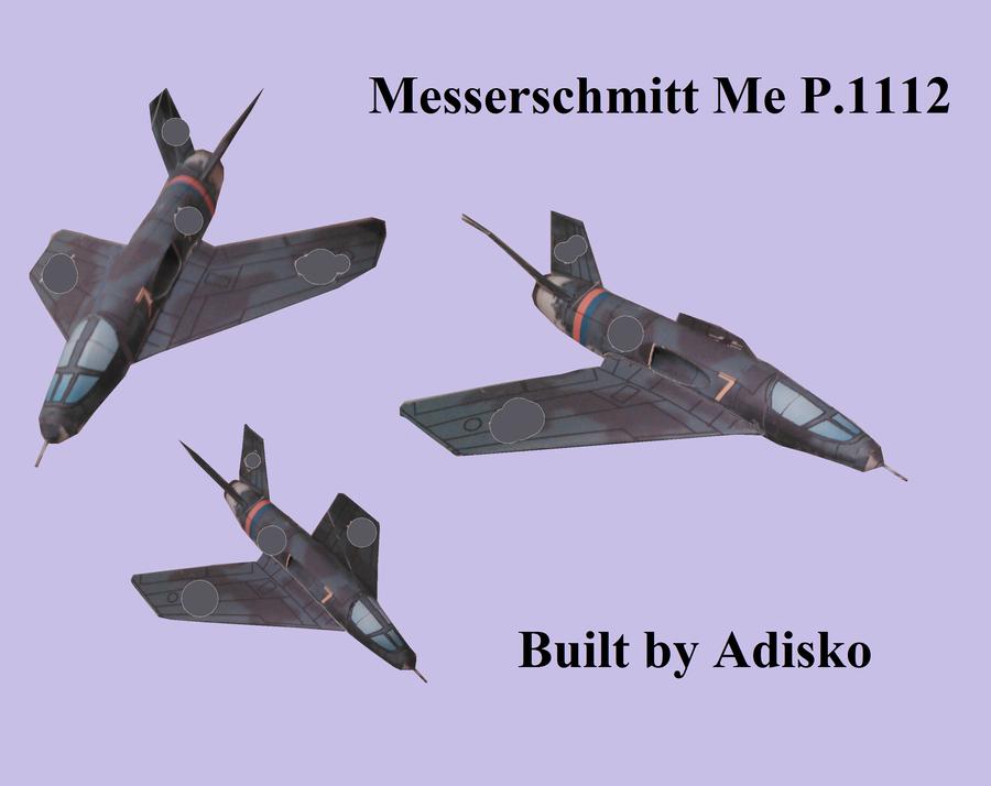 Messerschmitt Me P.1112 Papercraft by Adisko