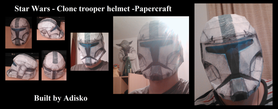 Star Wars Papercraft - Clone trooper helmet by Adisko
