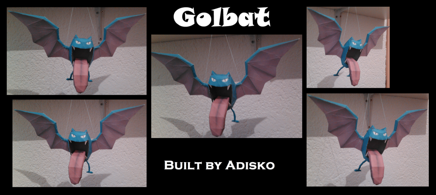 Golbat Pokemon Papercraft by Adisko