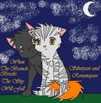 Silverpaw and Rowanpaw by Nixhil