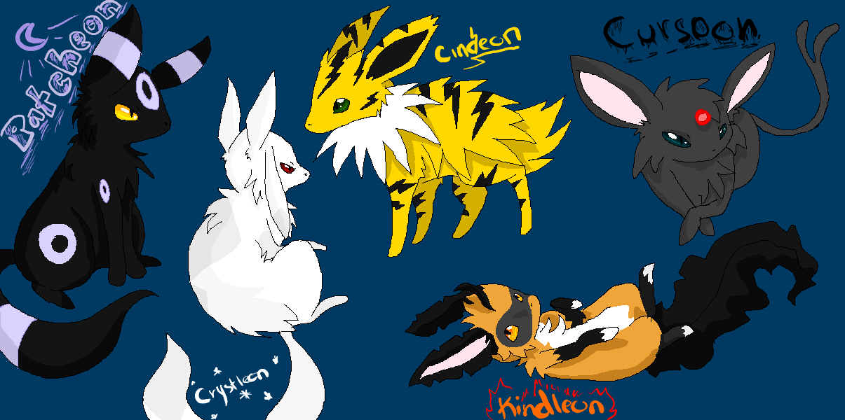 The Eeveelution Leaders by insanityNothing