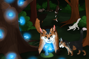 The Moon Tree Hunting Patrol by Nixhil