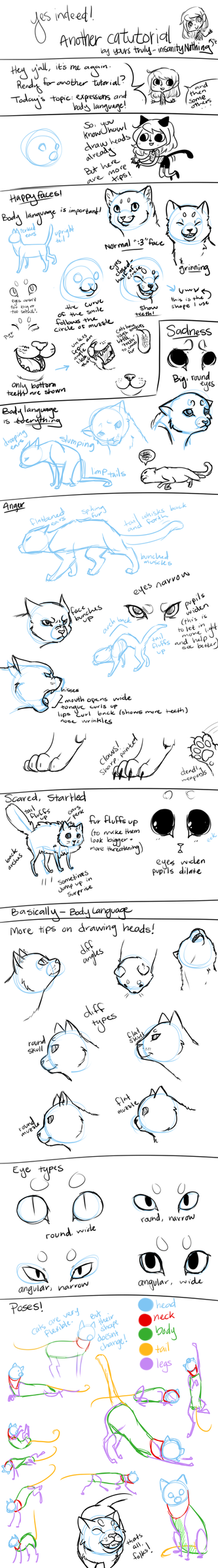 Drawing Tutorial -- Cats Part 2 by Nixhil