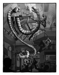 Robot Escape by Nixhil