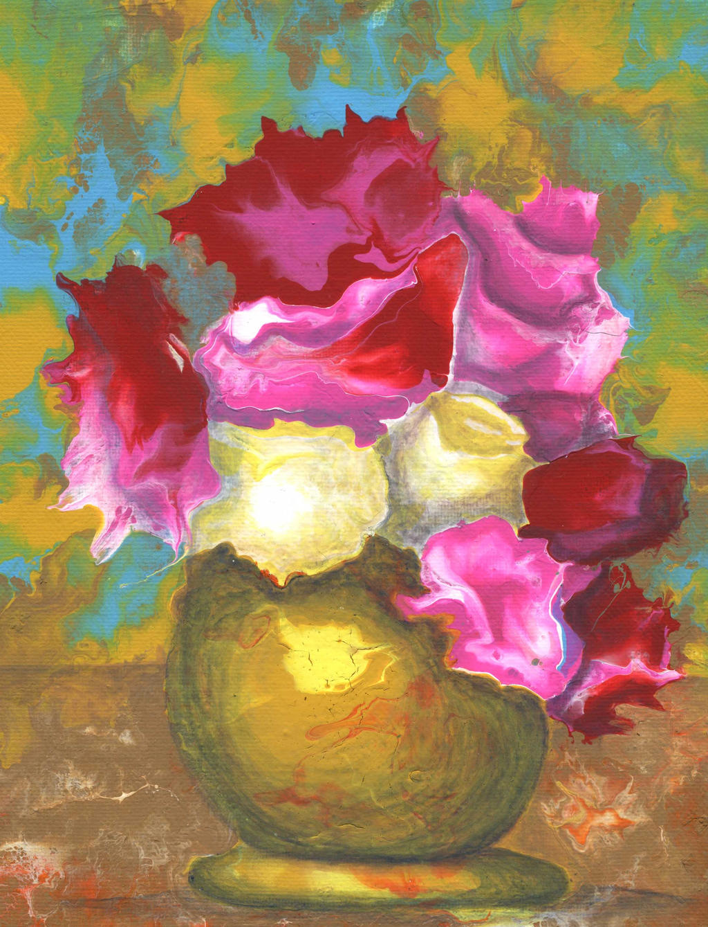 flowers in vase by anuvys