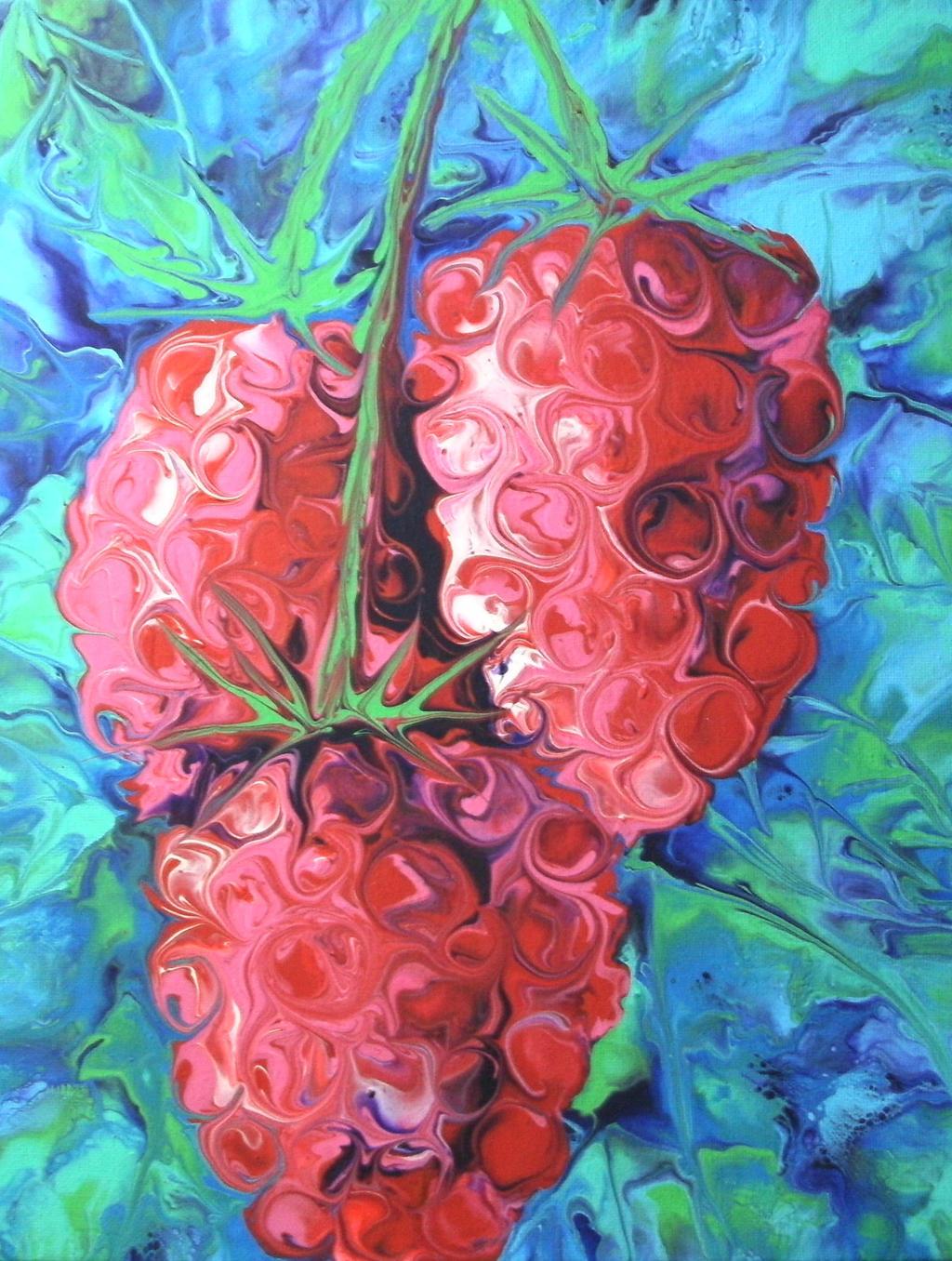 raspberries by anuvys