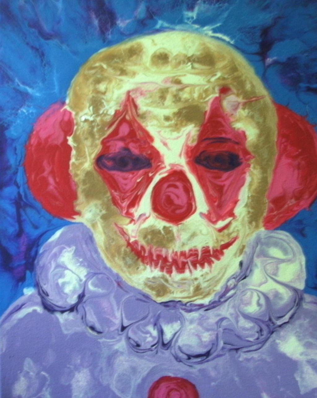 creepy clown by anuvys