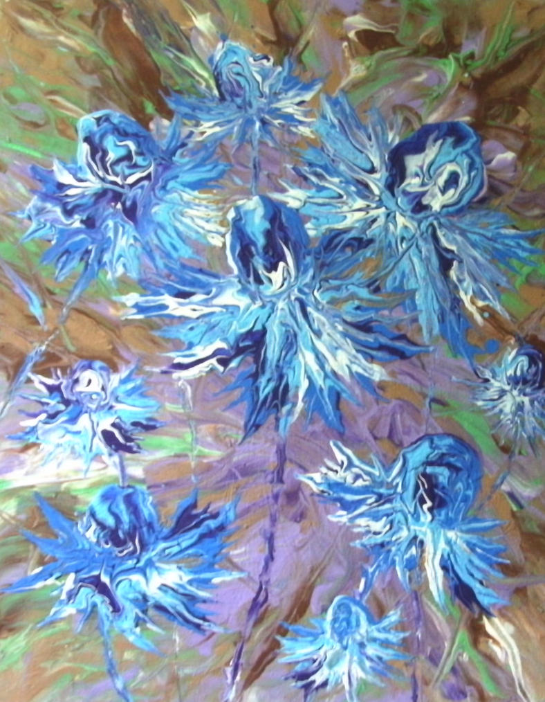 blue flowers by anuvys