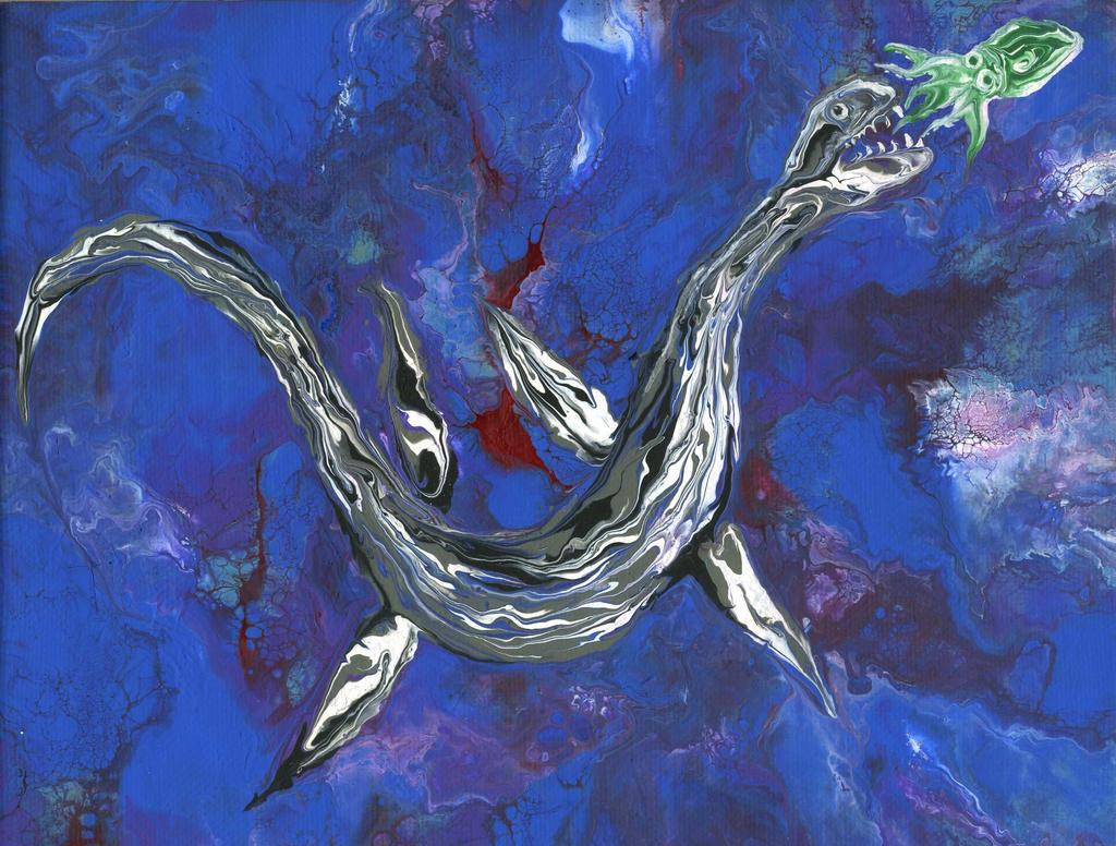 plesiosaur by anuvys