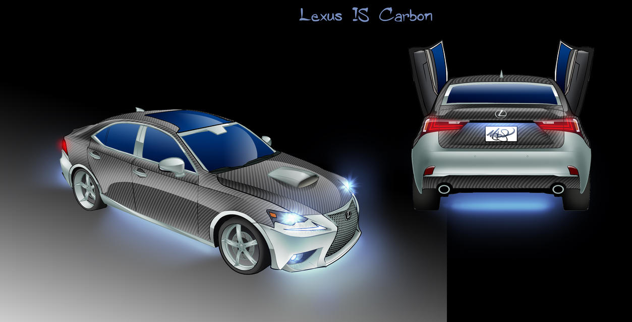 Carbon Lexus IS by MatinyComics