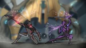 Lotus vs Stalker [Warframe by Matiny #1] by MatinyComics