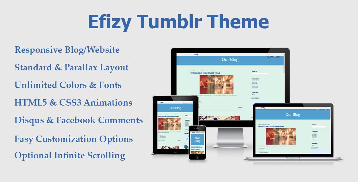 Efizy Tumblr Theme - Demo 1 by rascojet on DeviantArt