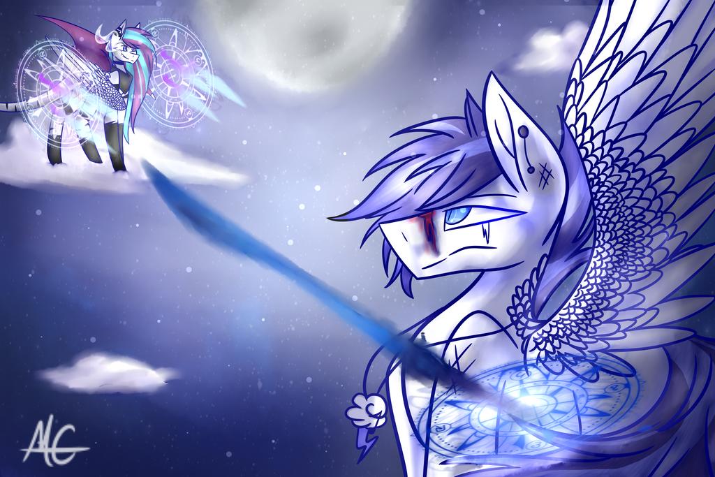 Grim vs Cloudy by MidnightLightning666