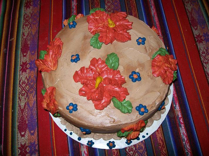 Autumn Hibiscus cake by cinderspritzer on DeviantArt