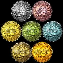 Skyrim Monopoly Coins by oddeh