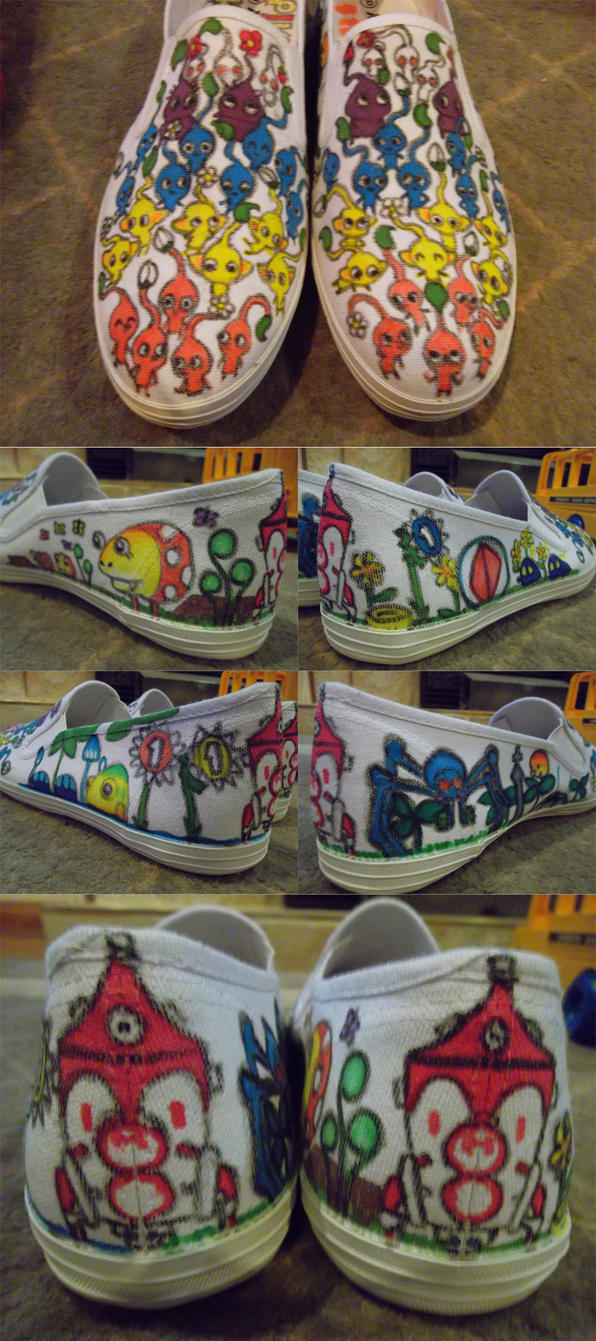 Pikmin shoes by Mad-Jim-McKracken