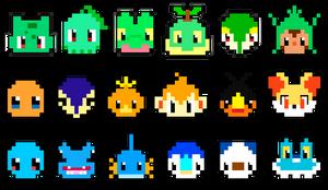 Pixel starters by JimmyJamJemz
